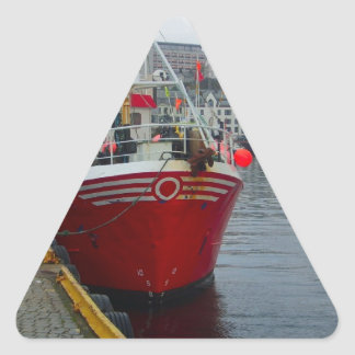 Norway, Deep water fishing vessel in port Stickers