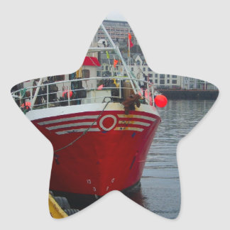 Norway, Deep water fishing vessel in port Sticker