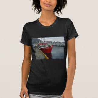Norway, Deep water fishing vessel in port Shirts