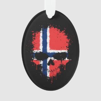 Norway Dripping Splatter Skull