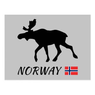 Norway Elk and flag Postcard