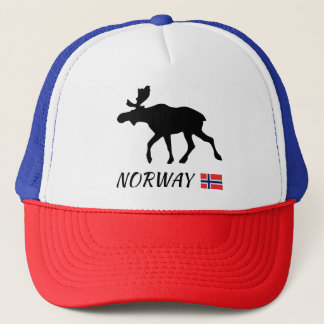 Norway Elk and flag Trucker Hat