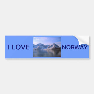 Norway, Entrance to a fjord Bumper Sticker