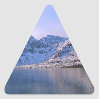 Norway, Entrance to a fjord Triangle Sticker