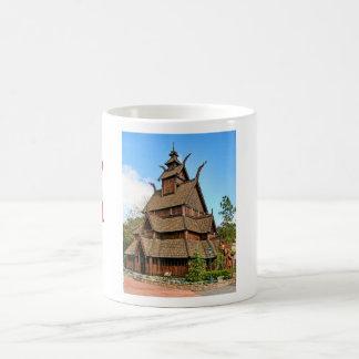 Norway, Fan ended Stave Church, Folk Museum Coffee Mug