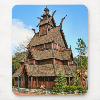Norway, Fan ended Stave Church, Folk Museum Mouse Pad