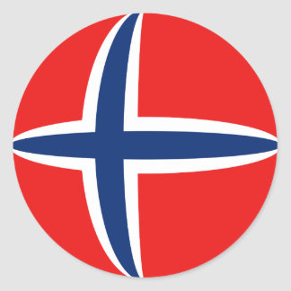 Norway Fisheye Flag Sticker