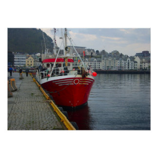 Norway, Fishing trawler ready for sea Poster