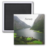 Norway Fjord 2 Inch Square Magnet