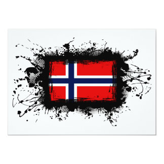 Norway Flag 5x7 Paper Invitation Card
