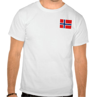 Norway Flag and Map T-Shirt