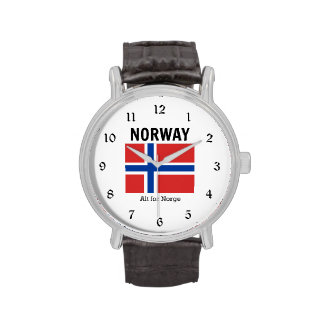 Norway Flag and Motto Wristwatches
