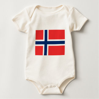 Norway Flag Baby Bodysuit