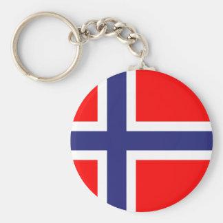 Norway flag basic round button keychain