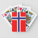 Norway flag bicycle playing cards