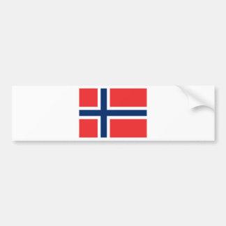 Norway flag bumper sticker