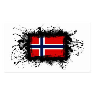 Norway Flag Business Card Template