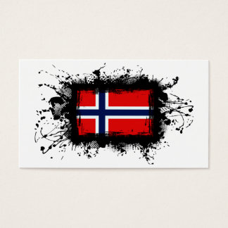 Norway Flag Business Card