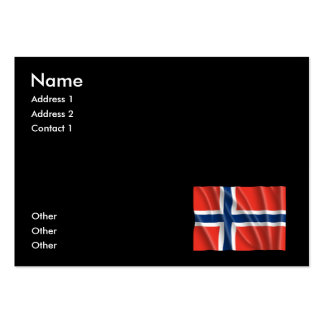 NORWAY FLAG BUSINESS CARD TEMPLATES