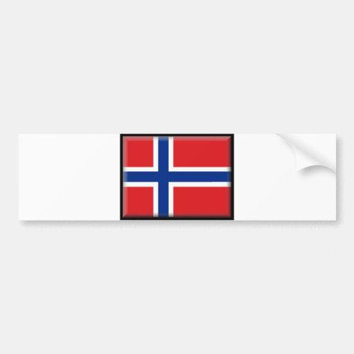 Norway Flag Car Bumper Sticker