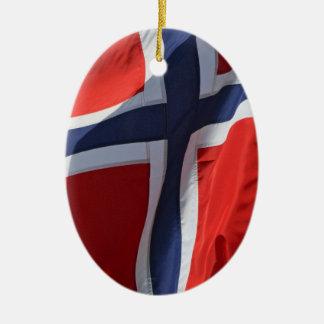 norway flag ceramic ornament