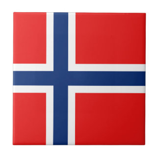 Norway Flag Ceramic Tile