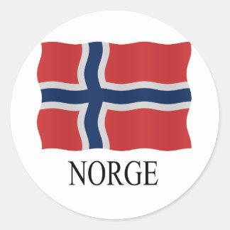 Norway flag classic round sticker