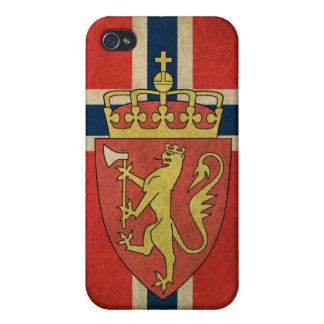 Norway Flag Coat of Arms Cover For iPhone 4