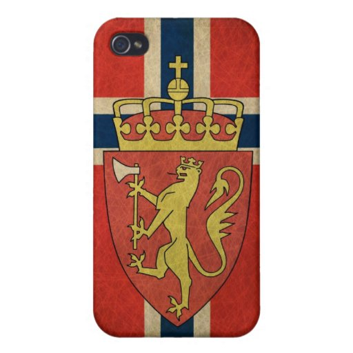 Norway Flag Coat of Arms iPhone 4 Cases