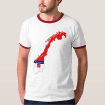 Norway Flag Colors Designer Brand T-Shirt
