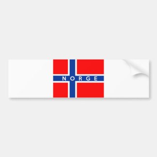 norway flag country norge text name bumper sticker