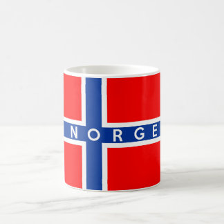 norway flag country norge text name coffee mug