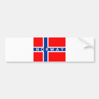 norway flag country text name bumper stickers