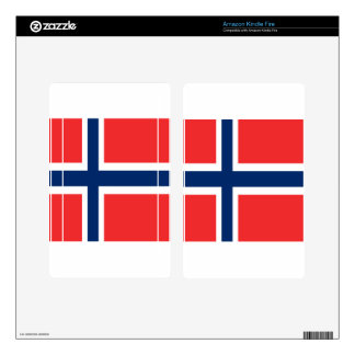 Norway flag design on product decal for kindle fire