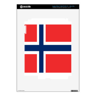 Norway flag design on product iPad 3 skin