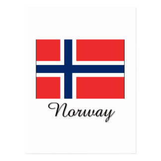 Norway Flag Design Postcard