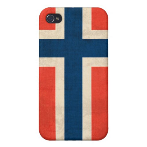 Norway Flag Distressed Case iPhone 4/4S Case