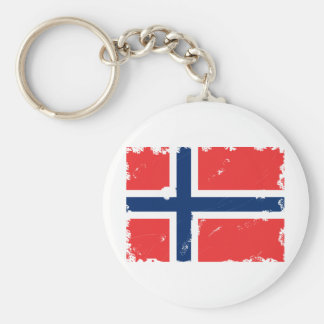 NORWAY FLAG DISTRESSED KEYCHAIN