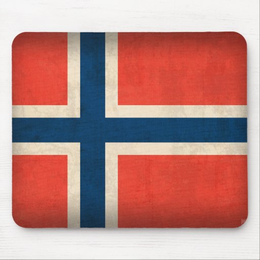 Norway Flag Distressed Mousepad