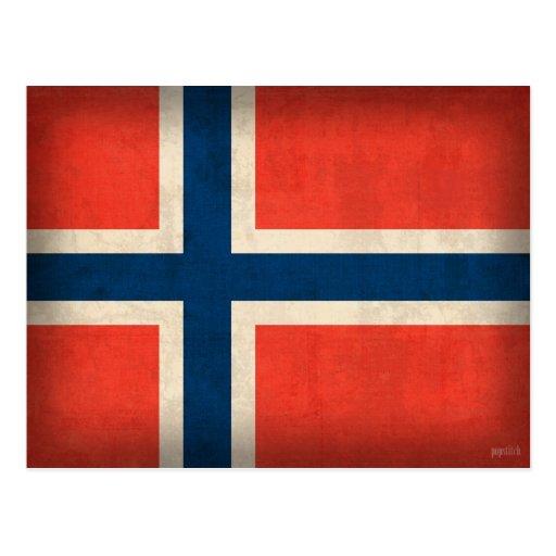 Norway Flag Distressed Postcards