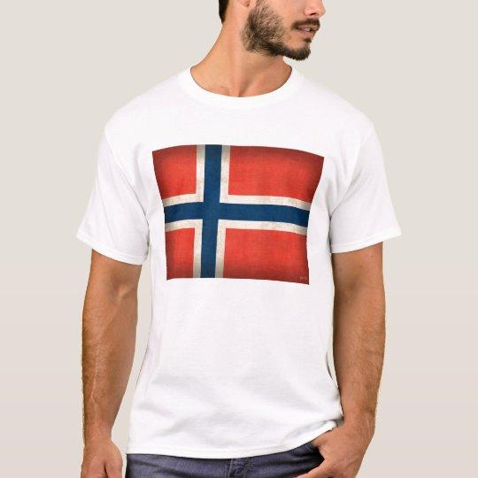 Norway Flag Distressed Shirt