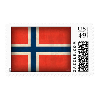 Norway Flag Distressed Stamps