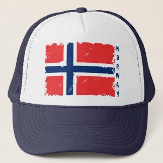 NORWAY FLAG DISTRESSED TRUCKER HAT