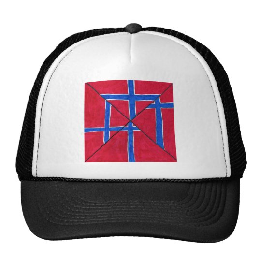 Norway Flag Drawing Trucker Hat