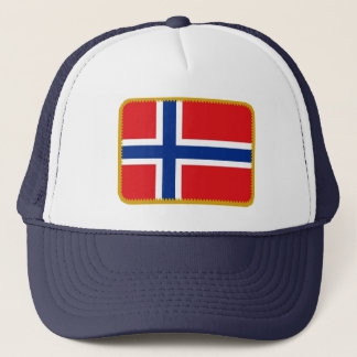 Norway flag embroidered effect hat