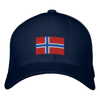 Norway flag embroidered flexfit wool hat