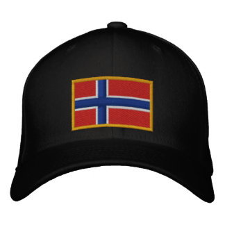 Norway Flag Embroidered Hats