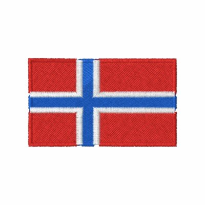 Norway flag embroidered men's polo shirt
