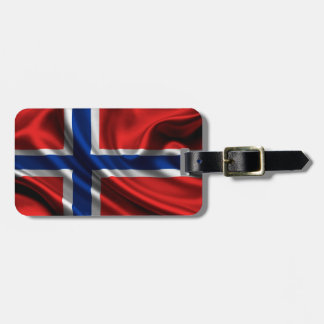 Norway Flag Fabric Tags For Luggage