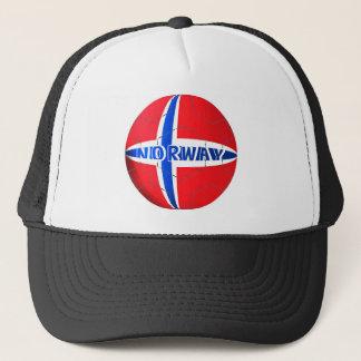Norway flag football soccer hat